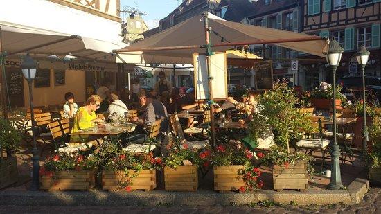 Wistub Brenner: Belle terrasse