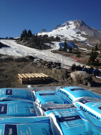 Timberline Lodge: Solar salt keeps the snow hard for skiing and snowboarding in the summer