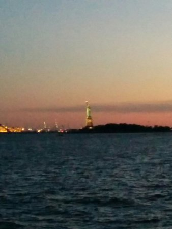 Manhattan By Sail - Clipper City Tall Ship: Statue of liberty sunset