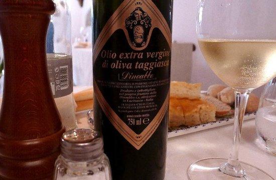 Trattoria Marsupino : Olivenöl vom Feinsten