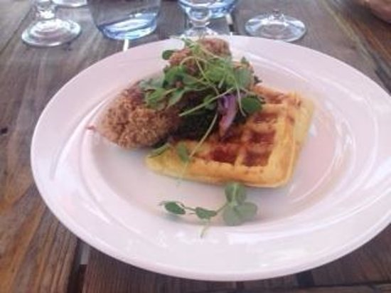 The Willow On Wascana: Coconut Chicken with Cornmeal Waffles