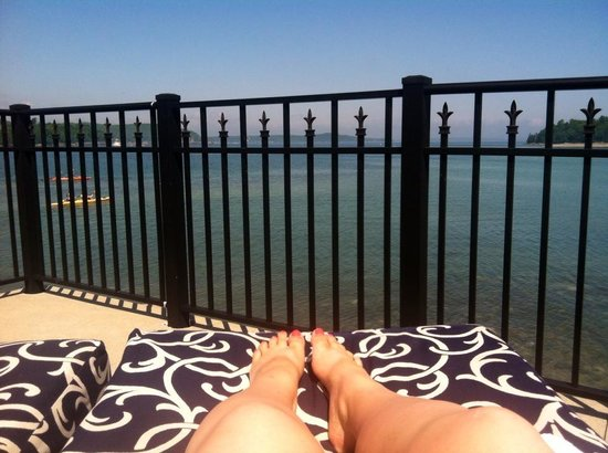 Harborside Hotel & Marina : view from my seat by the pool