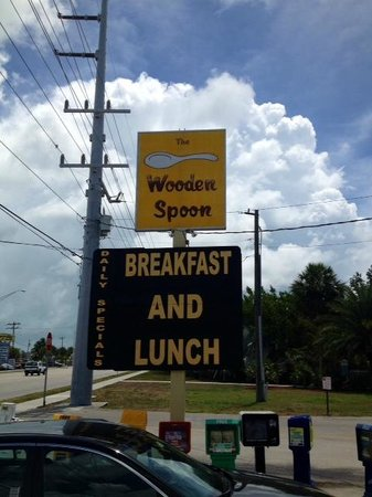 Wooden Spoon: Look for this sign around MM70
