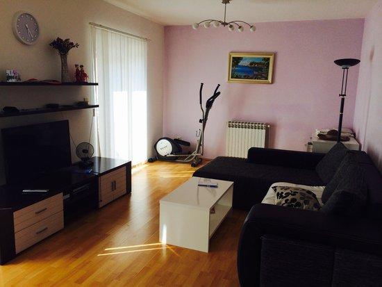 Apartments Dupcic Cavtat: Часть гостиной