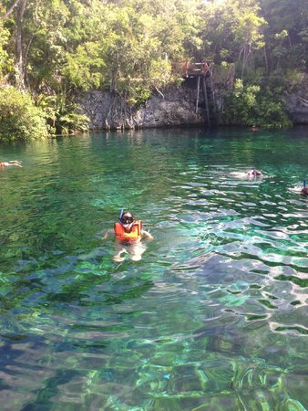 Aventuras Mayas: snorkeling in the cenote