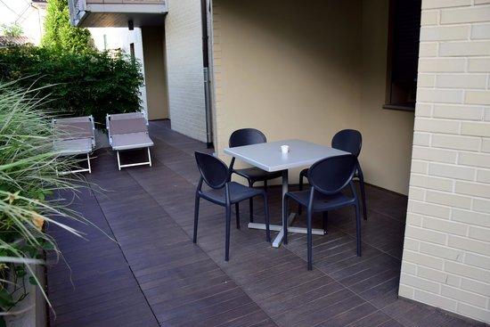 Locanda La Gazzella: unsere Terrasse
