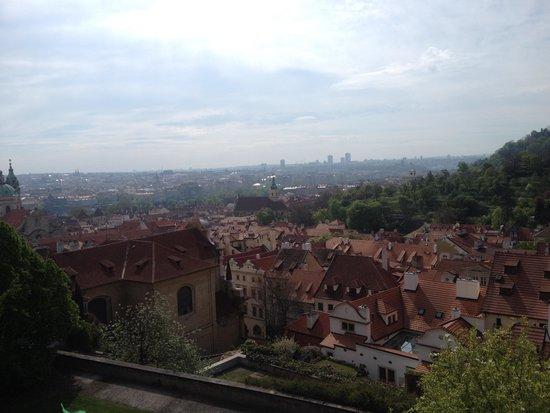 Château de Prague : view from the castle hill