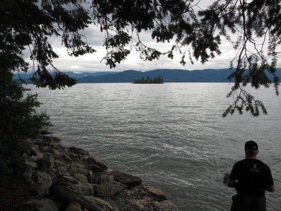 Flathead Lake State Park: Westshore campsite, Flathead Lake, Montana