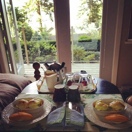Deer Fern Bed and Breakfast: Breakfast with a view