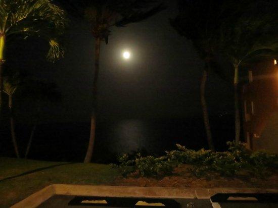 Las Casitas Village, A Waldorf Astoria Resort: Parking Area with Full Moon