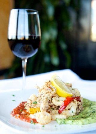 Amerigo Italian Restaurant: Wine & Calamari are both offered our our Early Bird menu for a great price