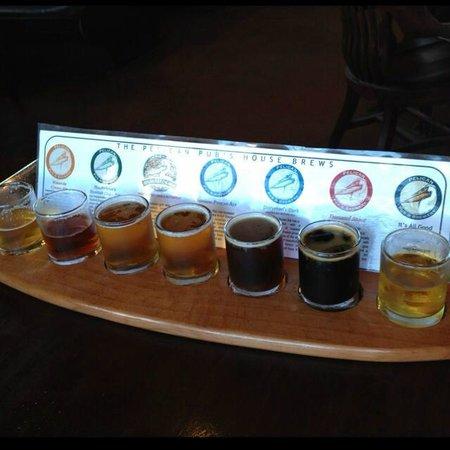 Pelican Pub & Brewery: Flight