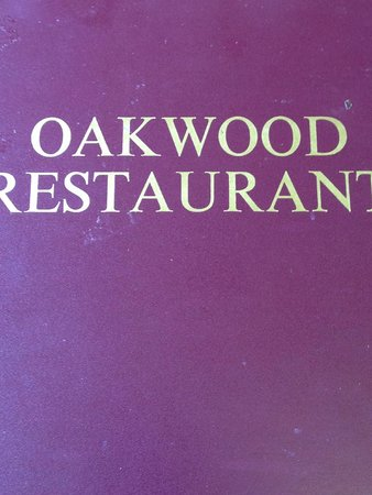 Signage for Oakwood Restaurant