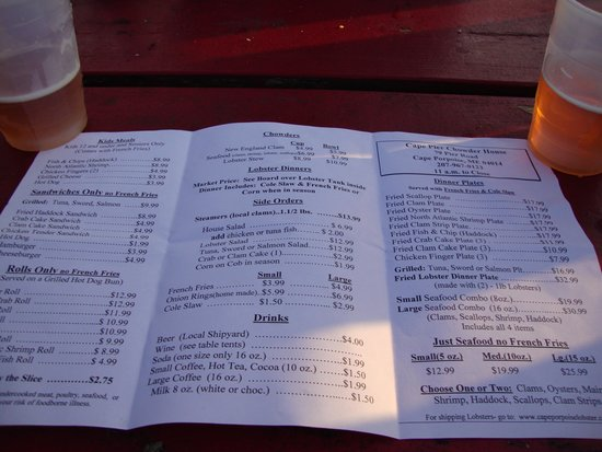 Cape Porpoise Chowder House: Lots to Offer