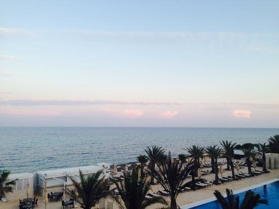 Radisson Blu Resort & Thalasso : the sunset view from balcony