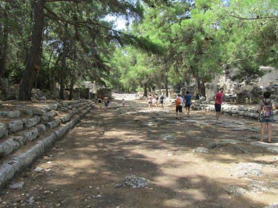 Phaselis Antique City: de voormalige hoofdstraat