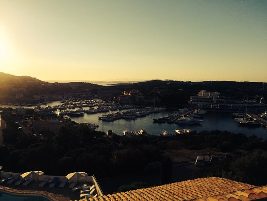 Hotel Luci di La Muntagna: From the terrace :-) Best view in Porto Cervo