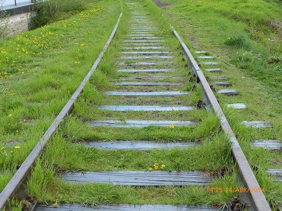 Terezín Memorial: Vías tren hacia Auswicht