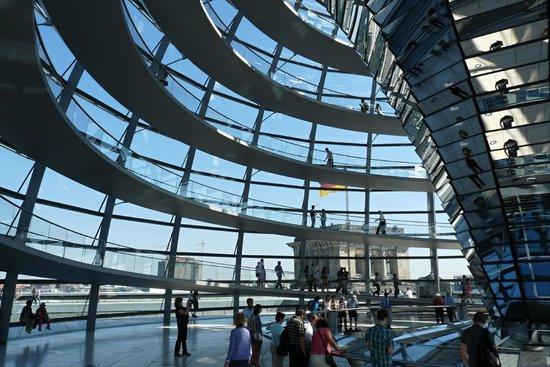 Plenarbereich Reichstagsgebäude: Roof of the Reichstag building