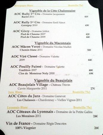 carte des vins   Picture of Danton, Lyon   TripAdvisor
