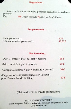 menu carte   Picture of Danton, Lyon   TripAdvisor