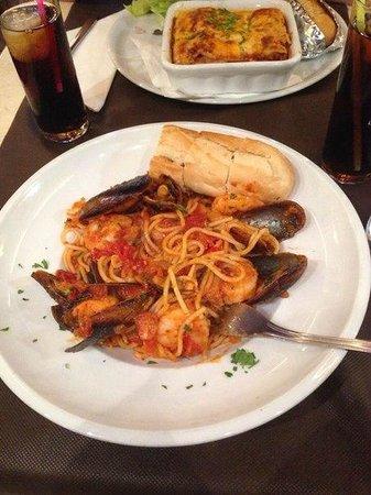 Olivers Restaurant: Паста с морепродуктами