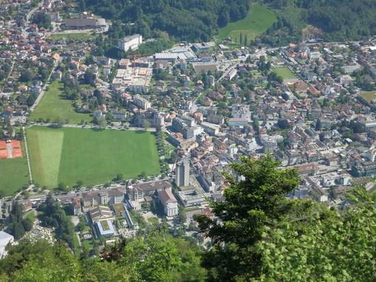 A view of Interlaken from the Harder Kulm.