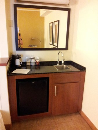 Hyatt Place Louisville-East: Sink/fridge.
