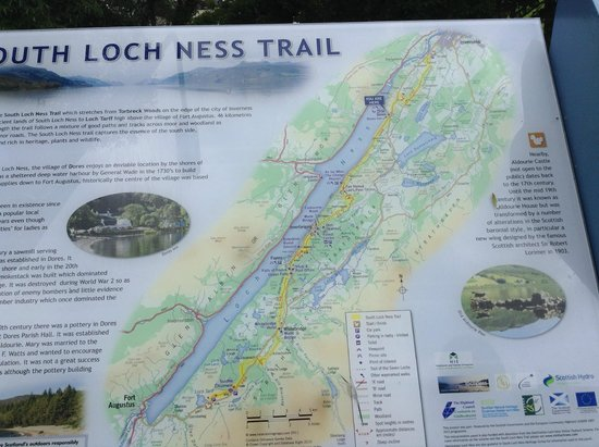 WOW Scotland: Loch Ness Trail marker