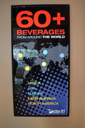 World of Coca-Cola: Different countries, different tastes...