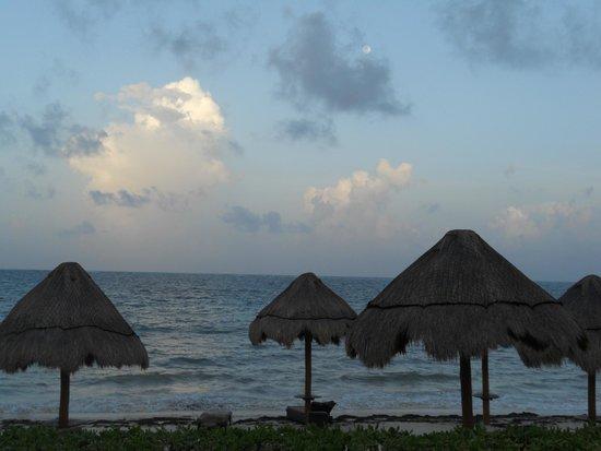 Ocean Coral & Turquesa: Atardecer cenando en la terraza del Privilege Lounge