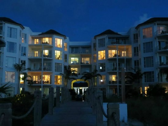West Bay Club: View of hotel at night