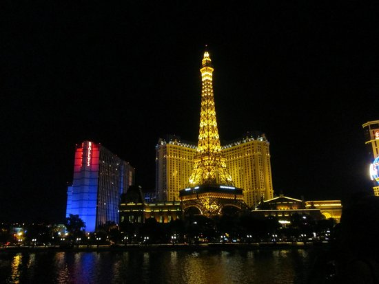 Eiffel Tower Experience at Paris Las Vegas : View From Across The Street of the Eiffel Tower
