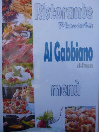 Al Gabbiano : Menu