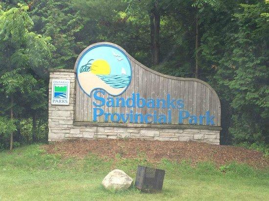 Sandbanks Provincial Park: the gate