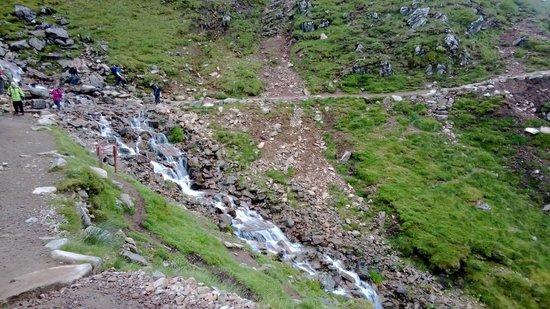 Ben Nevis: The waterfall, just past half way