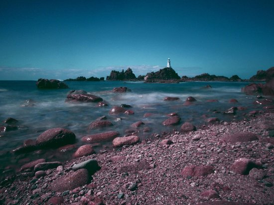 Corbiere Lighthouse (La Corbiere): Evening at the lighthouse