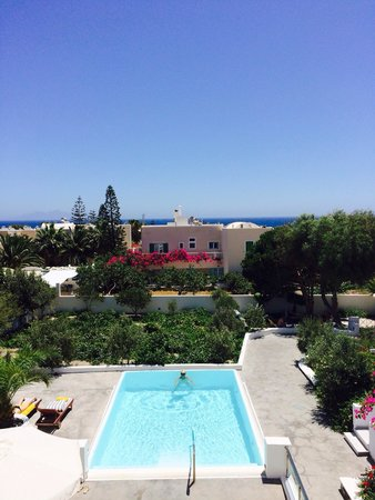 Santorini Kastelli Resort: View from the pool