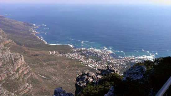 Table Mountain: looking down to bay