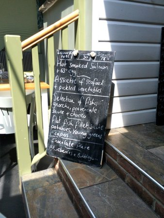 Verveine Fishmarket Restaurant: Daily board we chose from. There is also a main menu and tasting menu