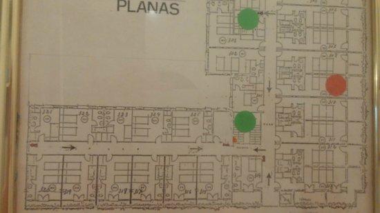 Hotel Planas : План третьего этажа