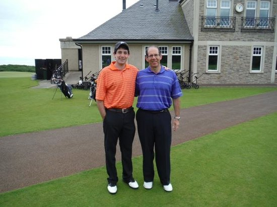 At the first tee of Kingsbarns Golf Links