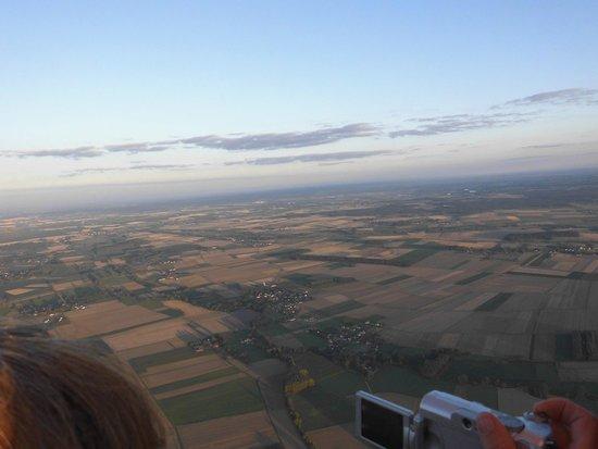 Beaune Montgolfiere: photo prise de la montgolfière
