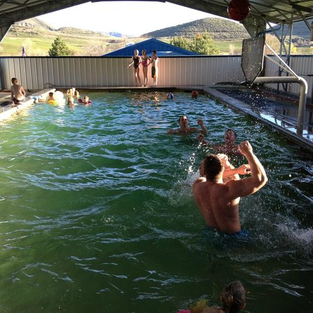 Sweet, ID: Water basketball at Roystone Hot Springs-your own private party!