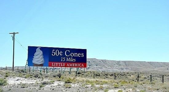 Little America Hotel Resort S Famous Ice Cream Cone Billboard