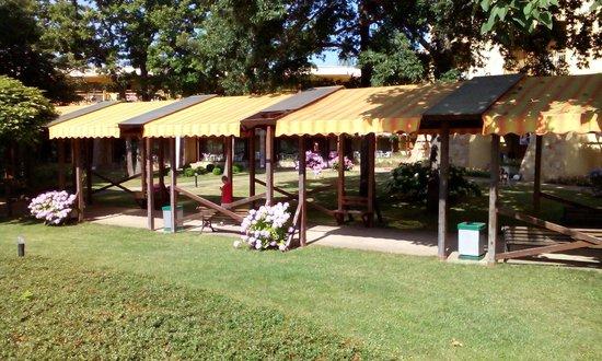 Les Magnolias Hotel : garden