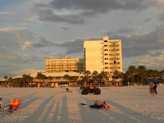 Hilton Clearwater Beach: Vista del Hotel desde la paya.