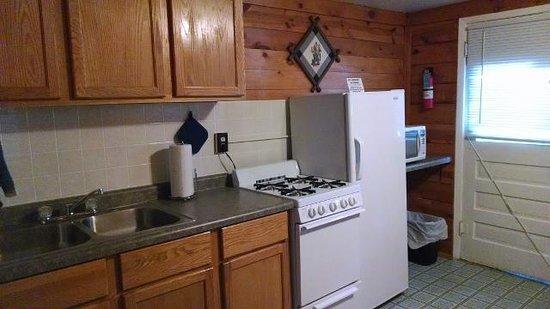 Trails End Cabins & Motel : Cabin 3 Kitchen