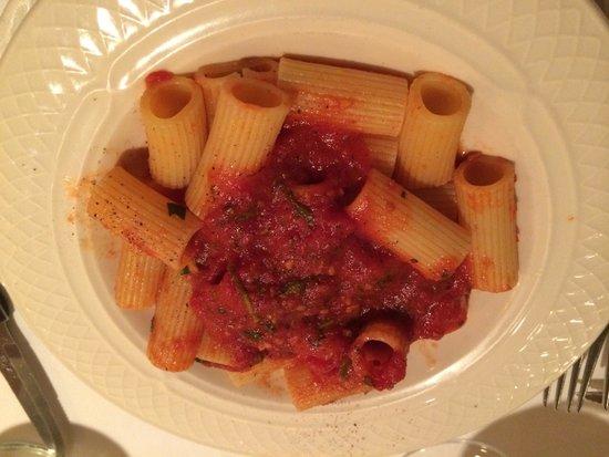 Patsy's Italian Restaurant : Rigatoni Marinara