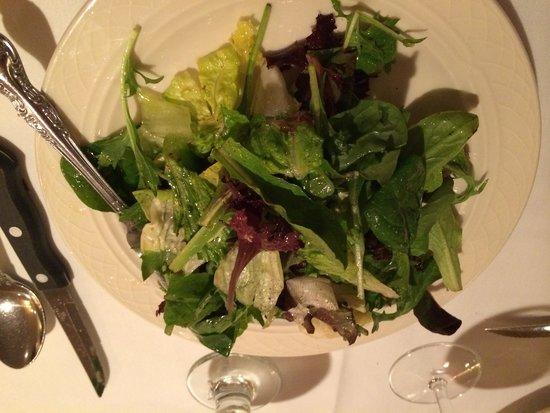 Patsy's Italian Restaurant : Mesculin Salad